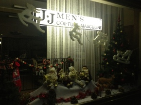 The Hairdresser's Christmas window